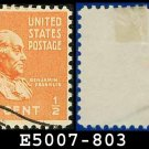 1938 USA USED Scott# 803 – 1/2c Franklin – 1938 Presidential Series