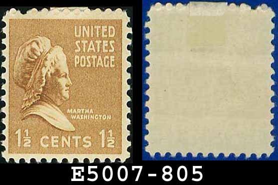 1938 USA UNUSED Scott# 805 � 1 1/2c Martha Washington � 1938 Presidential Series