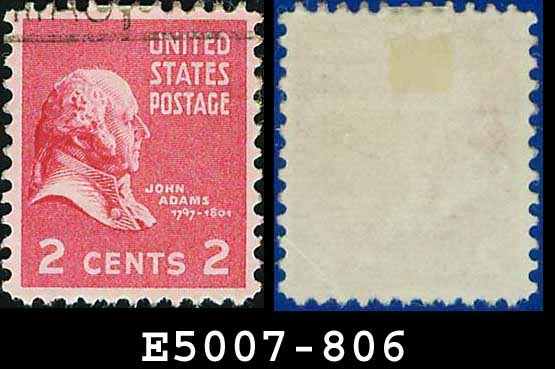 1938 USA USED Scott# 806 � 2c John Adams � 1938 Presidential Series
