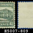 1938 USA USED Scott# 809 – 4 1/2c White House – 1938 Presidential Series