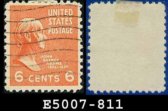 1938 USA USED Scott# 811 � 6c John Q Adams � 1938 Presidential Series