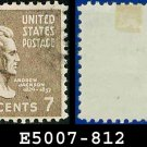 1938 USA USED Scott# 812 – 7c A Jackson – 1938 Presidential Series
