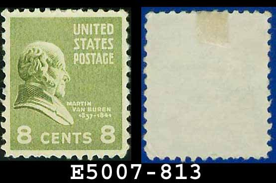 1938 USA UNUSED Scott# 813 � 8c M Van Buren � 1938 Presidential Series