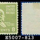 1938 USA UNUSED Scott# 813 – 8c M Van Buren – 1938 Presidential Series