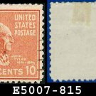 1938 USA USED Scott# 815 – 10c J Tyler – 1938 Presidential Series