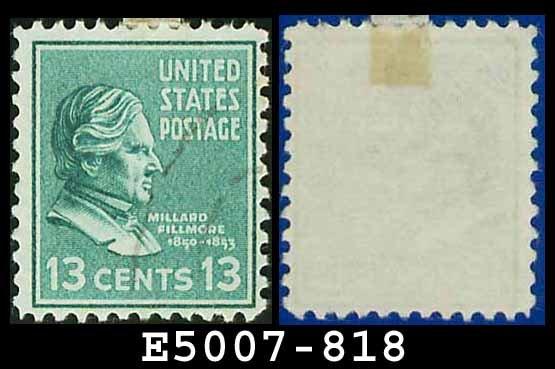 1938 USA USED Scott# 818 � 13c M Fillmore � 1938 Presidential Series