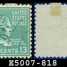 1938 USA USED Scott# 818 – 13c M Fillmore – 1938 Presidential Series