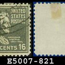 1938 USA USED Scott# 821 – 16c Lincoln – 1938 Presidential Series