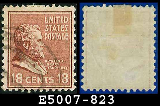 1938 USA USED Scott# 823 � 18c U S Grant � 1938 Presidential Series