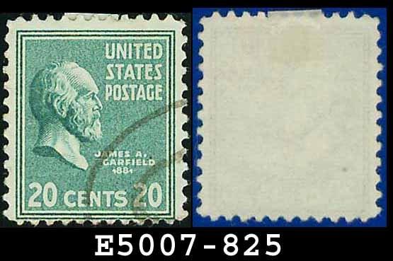 1938 USA USED Scott# 825 � 20c Garfield � 1938 Presidential Series