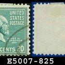 1938 USA USED Scott# 825 – 20c Garfield – 1938 Presidential Series
