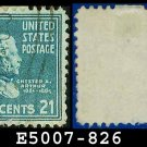 1938 USA USED Scott# 826 – 21c C Arthur – 1938 Presidential Series