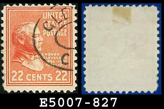 1938 USA USED Scott# 827 � 22c G Cleveland � 1938 Presidential Series