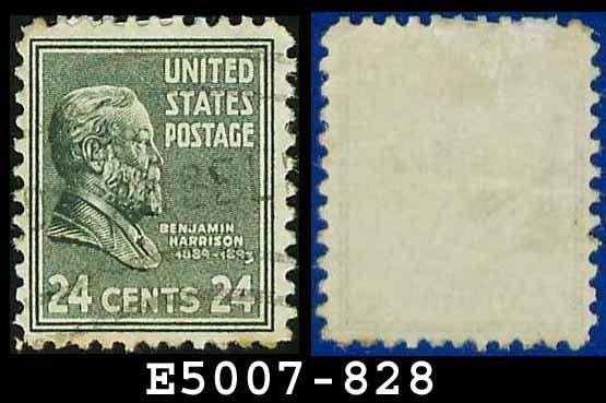 1938 USA USED Scott# 828 � 24c B Harrison � 1938 Presidential Series