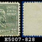 1938 USA USED Scott# 828 – 24c B Harrison – 1938 Presidential Series
