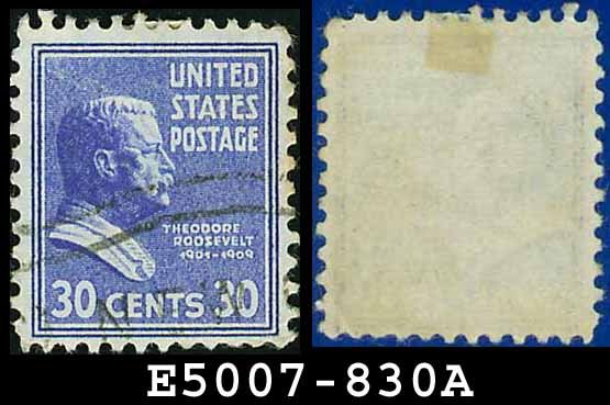 1938 USA USED Scott# 830 � 30c T Roosevelt � 1938 Presidential Series