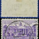 1938-39 USA USED Scott# 835 – 3c Colonial Court House – 1938-39 Commemoratives