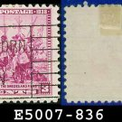 1938-39 USA USED Scott# 836 – 3c Landing of Swedes & Finns – 1938-39 Commemoratives