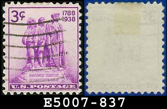 1938-39 USA USED Scott# 837 � 3c Colonization of the West � 1938-39 Commemoratives