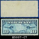 1926-27 USA UNUSED Scott# C7 – 10c US Map and Mail Planes – Air Mail Stamp