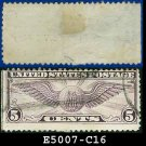 1931-32 USA USED Scott# C16 – 5c Violet Winged Globe – Air Mail Stamp