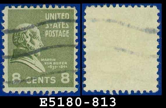 1938 USA USED Scott# 813 � 8c M Van Buren � 1938 Presidential Series