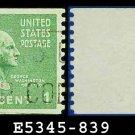 1938 USA USED Scott# 839 – 1c Washington – 1938 Presidential Rotary Coil Series