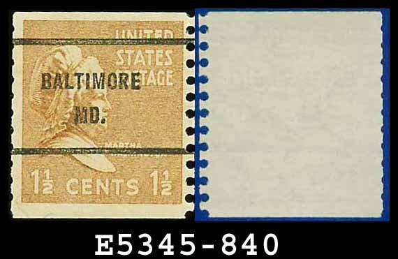 1938 USA USED Sc# 840 � 1 1/2c Martha Washington � 1938 Presidential Rotary Coil Series