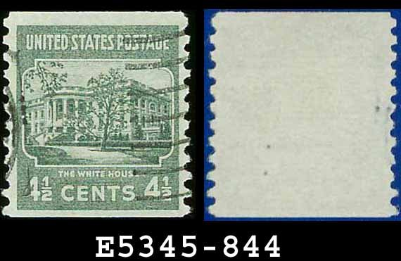 1938 USA USED Scott# 844 � 4 1/2c White House � 1938 Presidential Rotary Coil Series