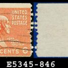 1938 USA USED Scott# 846 – 6c John Q Adams – 1938 Presidential Rotary Coil Series