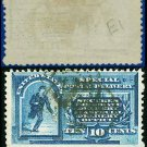 1885 USA USED E1 – 10c Blue Inscribed Messenger on Bicycle - Special Delivery Issue