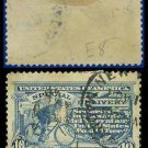 1911 USA USED E8 – 10c Ultramarine Messenger on Bicycle - Special Delivery Issue