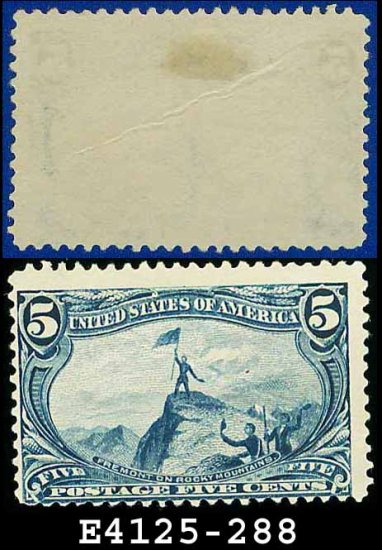 1898 USA UNUSED Scott# 288 � 5c Fremont on the Rocky Mountains � Trans-Mississippi Series