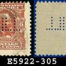 1902-03 USA USED Scott# 305 – 6c Garfield 20th US President – 1902-03 Regular Series Perf 12