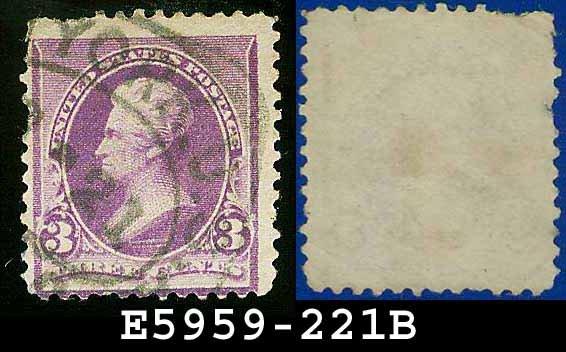 1890-93 USA USED Scott# 221 � 3c Jackson � 1890-93 Regular Issue