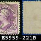 1890-93 USA USED Scott# 221 – 3c Jackson – 1890-93 Regular Issue