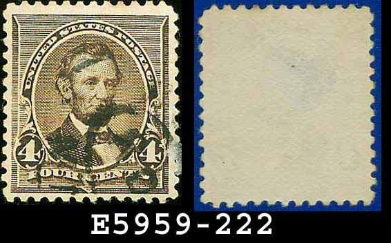 1890-93 USA USED Scott# 222 � 4c Dark Brown Lincoln � 1890-93 Regular Issue