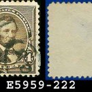 1890-93 USA USED Scott# 222 – 4c Dark Brown Lincoln – 1890-93 Regular Issue