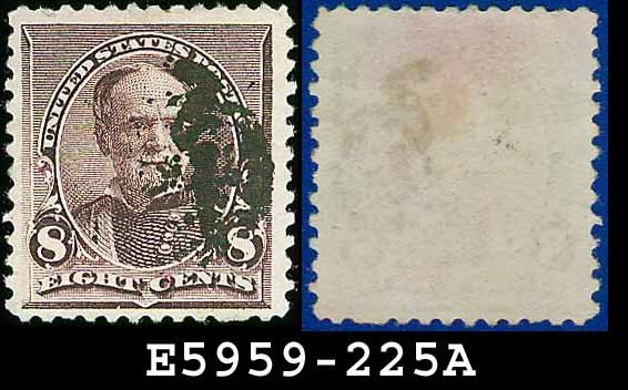 1890-93 USA USED Scott# 225 � 8c Lilac Sherman � 1890-93 Regular Issue