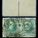 1890-93 USA USED Scott# 226 – 10c Green Webster PAIR– 1890-93 Regular Issue