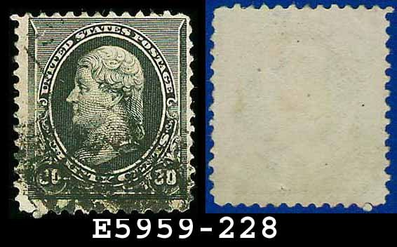 1890-93 USA USED Scott# 228 � 30c Jefferson (Black) � 1890-93 Regular Issue