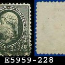1890-93 USA USED Scott# 228 – 30c Jefferson (Black) – 1890-93 Regular Issue