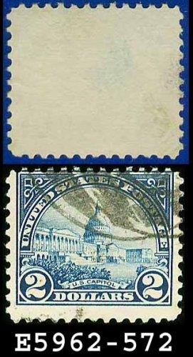 1922-25 USA USED Scott# 572 � $2 US Capitol deep blue � 1922-25 Regular Issue