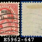 1928 USA USED Scott# 647 - 2c Discovery of Hawaii Overprint - 1928 Commemoratives