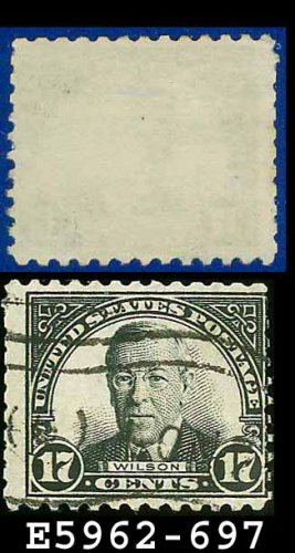 1931 USA USED Scott# 697 � 17c Wilson � 1931 Rotary Print Regular Issue