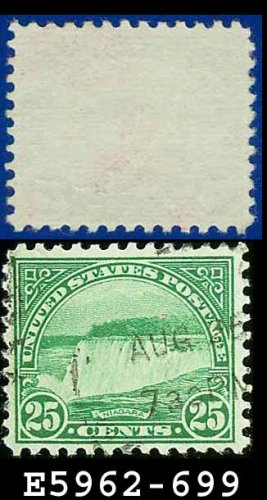 1931 USA USED Scott# 699 � 25c Niagara Falls � 1931 Rotary Print Regular Issue