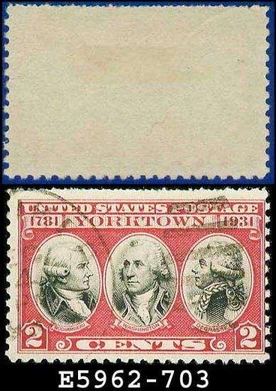 1930-31 USA USED Scott# 703 � 2c Rochambeau, Washington, De Grasse  � 1930-31 Commemoratives