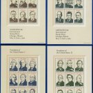 1986 USA UNUSED Sc# 2216–19 - 22c Presidential Sheets - !986 Presidential Miniature Sheets E4116