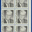 1986-88 USA Sc# 2180 UNUSED Block of Ten – 21c Chester Carlson – Great Americans E4116