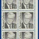 1986-88 USA Sc# 2180 UNUSED Block of Ten – 21c Chester Carlson – Great Americans E4116